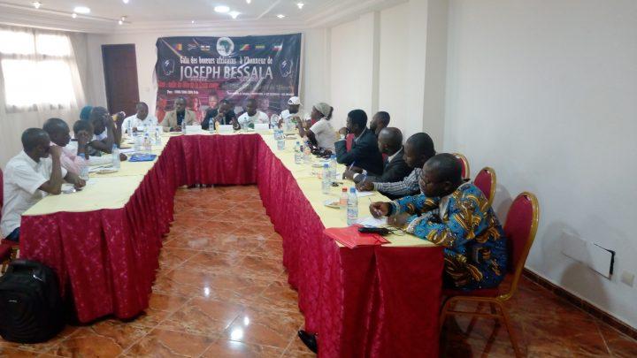Conférence de presse relative au gala en hommage à Joseph Bessala