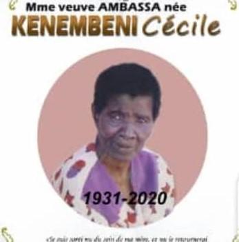 Nécrologie: Obsèques de Mme Veuve AMBASSA née KENEMBENI Cécile