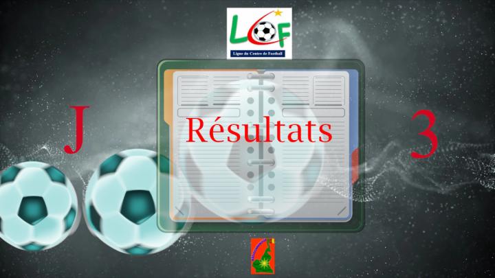 Ligue Régionale de football du Centre : Résultats et classement de la 3e journée poule par poule